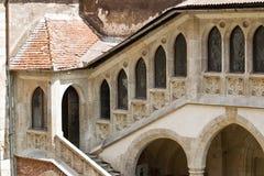 Het kasteel van Huniazilor stock afbeeldingen