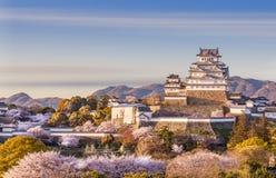 Het kasteel van Japan Himeji stock afbeelding