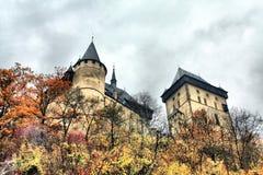 Het kasteel van Karlstein Stock Afbeelding