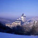 Het kasteel van Karlstejn Stock Afbeeldingen