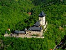 Het kasteel van Karlstejn Stock Foto