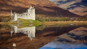 Het kasteel van Kilchurn op Loch Ontzag Stock Afbeelding