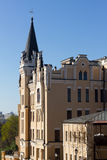 Het kasteel van koningsrichard in Kiev Stock Foto's