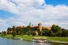 Het kasteel van Krakau Stock Afbeeldingen