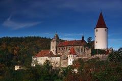 Het kasteel van Krivoklat, Tsjechische republiek Royalty-vrije Stock Foto