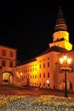Het Kasteel van Kromeriz bij Nacht Royalty-vrije Stock Foto