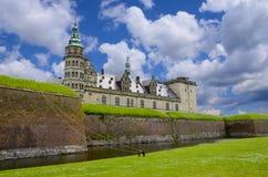 Het Kasteel van Kronborg, Denemarken Stock Foto's