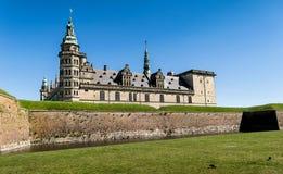 Het kasteel van Kronborg in Helsingor, Denemarken Stock Foto's