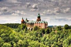 Het Kasteel van Ksiaz in Walbrzych Royalty-vrije Stock Afbeelding