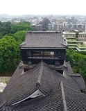 Het Kasteel van Kumamoto in Japan stock afbeelding