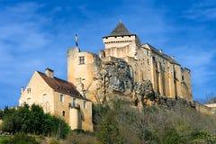 Het kasteel van La Chapelle van Castelnaud in Dordogna Stock Afbeeldingen