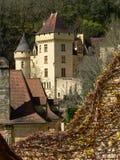 Het kasteel van La Malartrie, La roque-Gageac (Frankrijk) Stock Foto