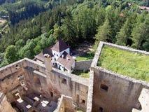 Het Kasteel van Landstejn, Bohemen royalty-vrije stock foto's