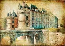 Het kasteel van le lude stock illustratie