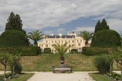 Het kasteel van Lednice Stock Afbeelding