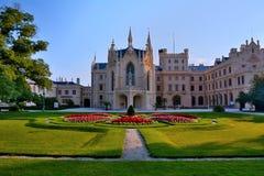 Het kasteel van Lednice Royalty-vrije Stock Foto's