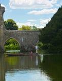 Het kasteel van Leeds Het wegschoppen op de gracht Kent Uk royalty-vrije stock foto