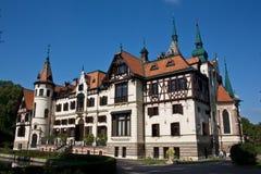 Het kasteel van Lesna Stock Foto's