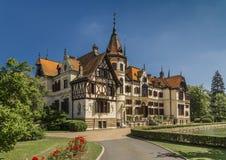 Het kasteel van Lesna in de Tsjechische Republiek van ZlÃn Stock Fotografie