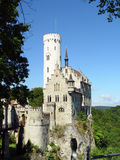 Het Kasteel van Lichtenstein Stock Afbeeldingen