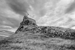 Het Kasteel van Lindisfarne Stock Foto