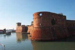Het kasteel van Livorno Stock Fotografie