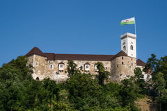Het kasteel van Ljubljana Royalty-vrije Stock Foto's