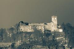 Het kasteel van Ljubljana Stock Foto's