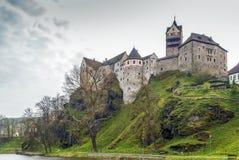 Het kasteel van Loket, Tsjechische Republiek Stock Afbeelding
