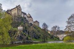 Het kasteel van Loket, Tsjechische Republiek Royalty-vrije Stock Foto's