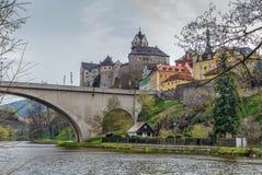 Het kasteel van Loket, Tsjechische Republiek Royalty-vrije Stock Foto