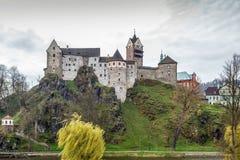 Het kasteel van Loket, Tsjechische Republiek Stock Fotografie
