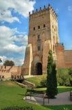 Het kasteel van Lubart?s in Lutsk Stock Fotografie