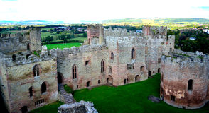 Het kasteel van Ludlow Stock Fotografie