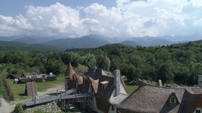 Het Kasteel van Lut In Sibiu stock video