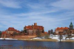 Het kasteel van Malbork Stock Foto's
