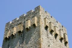 Het kasteel van Manasija stock afbeelding