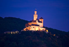 Het kasteel van Marksburg, Duitsland stock foto