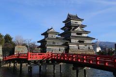 Het kasteel van Matsumoto Stock Foto's