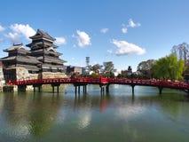 Het Kasteel van Matsumoto in de Prefectuur van Nagano, Japan stock fotografie