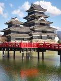 Het Kasteel van Matsumoto in de Prefectuur van Nagano, Japan royalty-vrije stock afbeelding
