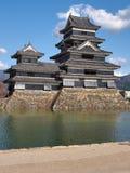 Het Kasteel van Matsumoto in de Prefectuur van Nagano, Japan stock foto