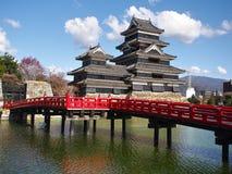 Het Kasteel van Matsumoto in de Prefectuur van Nagano, Japan royalty-vrije stock foto's