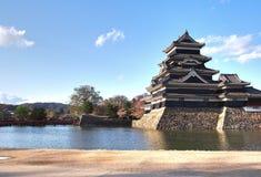 Het Kasteel van Matsumoto in de Prefectuur van Nagano, Japan stock afbeelding