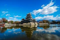 Het kasteel van Matsumoto in Japan Royalty-vrije Stock Foto's