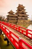 Het Kasteel van Matsumoto, Japan Stock Foto's