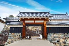 Het Kasteel van Matsumoto in Japan stock afbeelding