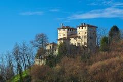 Het kasteel van middeleeuwse Cassacco in Friuli Royalty-vrije Stock Foto