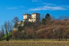 Het kasteel van middeleeuwse Cassacco in Friuli Royalty-vrije Stock Fotografie