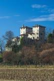 Het kasteel van middeleeuwse Cassacco in Friuli Stock Afbeelding